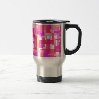 Pink Rectangles Commuter Mug