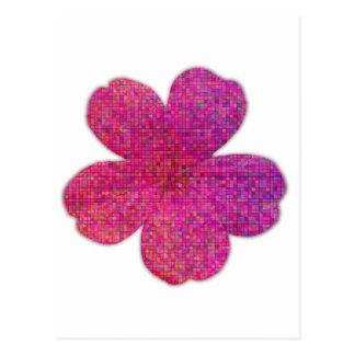 Pink Red Mosaic Geranium Flower Postcard
