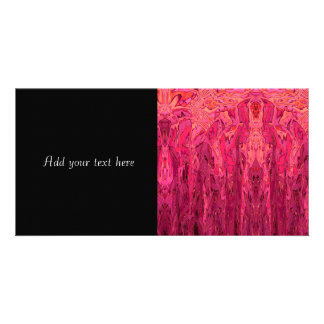 Pink Red Orange Abstract Art Photo Card Template