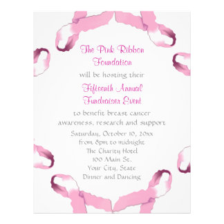 Pink Ribbon Breast Cancer Awareness 21.5 Cm X 28 Cm Flyer