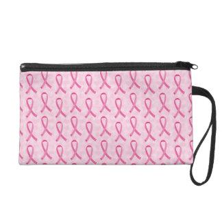 Pink Ribbon Breast Cancer Awareness Bag Wristlet Purse