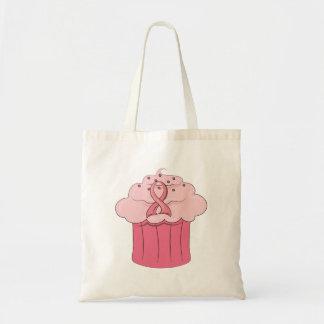 Pink Ribbon Cupcake Breast Cancer Canvas Bag