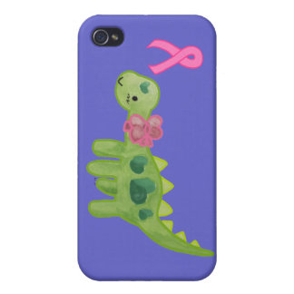 Pink Ribbon Dino iPhone 4 Cover