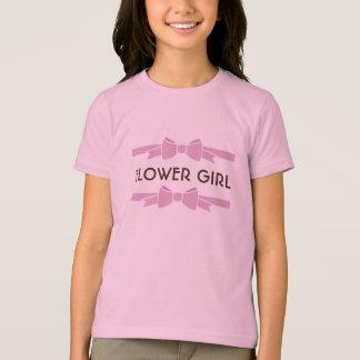 Pink Ribbon Flower Girl T-Shirt