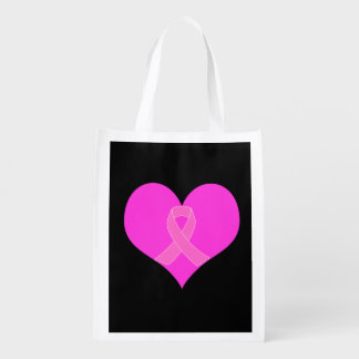 Pink Ribbon & Heart Breast Cancer Charity Design