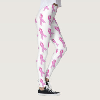 Pink ribbon leggings