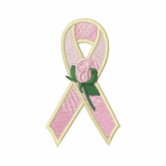 Pink Ribbon with Rose Breast Cancer Awareness