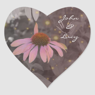 Pink romantic daisy flower sticker