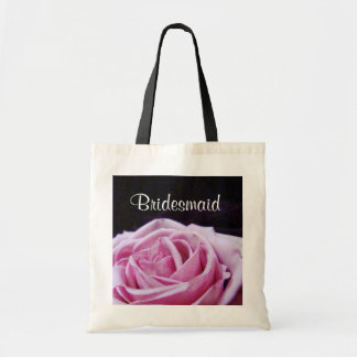 Pink Rose Bridesmaid Tote Bag