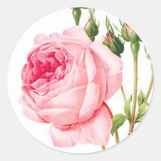 Pink Rose Envelope Stickers