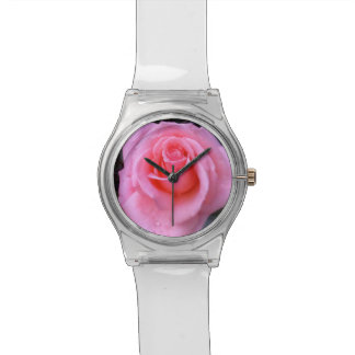 Pink Rose Flower Power watch