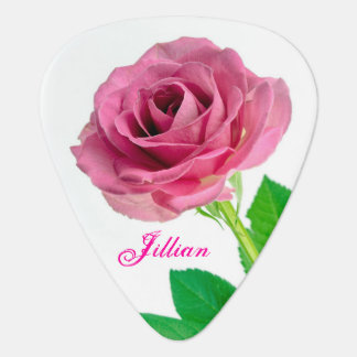 Pink Rose Guitar Pick
