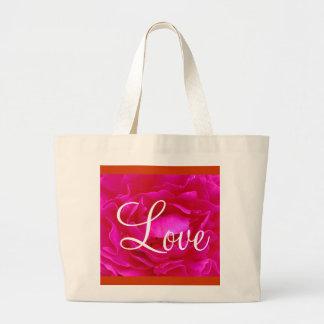 Pink Rose Love II Bag Tote Bag