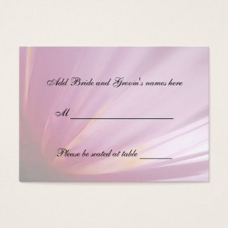 Pink Rose Petal Seating Place Card