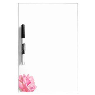 PINK ROSE, PETALS AND STEM, ROSE FLOWER IN BLOOM DRY ERASE BOARD