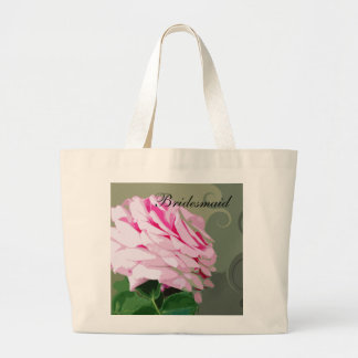 Pink Rose Swirls Wedding Bridesmaid s Bags
