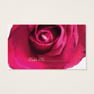 Pink Rose Watercolor Place Cards