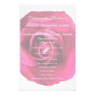 Pink Rose Watercolor Wedding Programs 14 Cm X 21.5 Cm Flyer