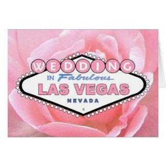 Pink Rose WEDDING in Las Vegas Card