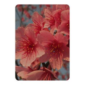Pink Sakura Cherry 13 Cm X 18 Cm Invitation Card