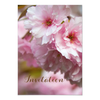 Pink Sakura Flower 13 Cm X 18 Cm Invitation Card
