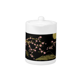 Pink Sakura Gold Black Japanese Screen