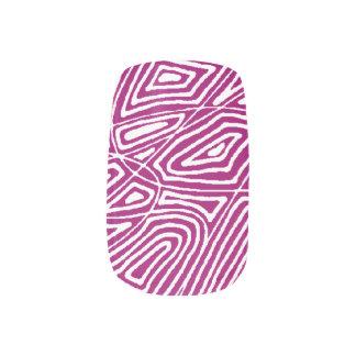 Pink Scribbleprints Nail Art