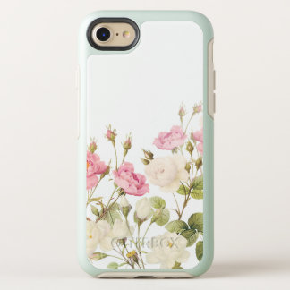 Pink Sepia Vintage Roses Meadow Illustration OtterBox Symmetry iPhone 8/7 Case