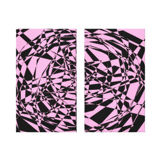 Pink Shatter Canvas Print