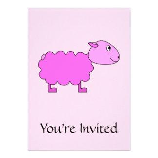 Pink Sheep Personalized Invitation
