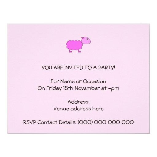 Pink Sheep Custom Announcement