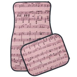 Pink  Sheet Music Floor Mat