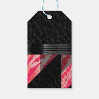 Pink Sherbert Zebra Abstract Gift Tags