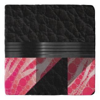 Pink Sherbert Zebra Abstract Trivet