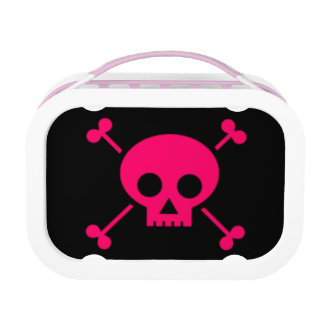 Pink Skull and Cross Bones Lunch Box