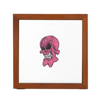 Pink Skull Desk Organizer Pencil/Pen Holder