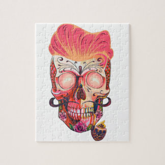 pink skull jigsaw puzzle