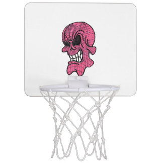Pink Skull Mini Basketball Goal Mini Basketball Hoop