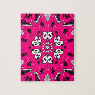 Pink Skulls and Shoes Jigsaw Puzzle