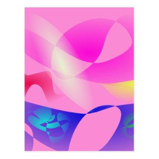 Pink Sky and the Horizon Art Postcard
