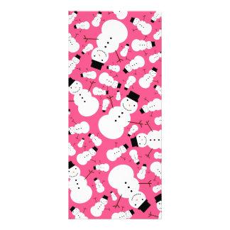 Pink snowmen rack cards