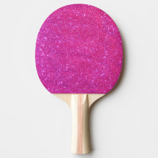 Pink Sparkle Sparkly Glitter Girl Ping Pong Paddle