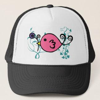 Pink Sparrow by Kristina Hansen Trucker Hat