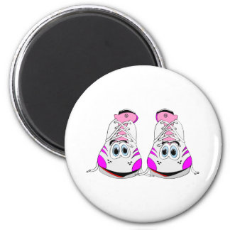 Pink Sports Shoes Cartoon Magnet