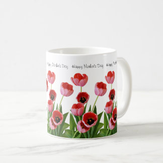 Pink Spring Tulip Bouquet for Mother's Day Coffee Mug