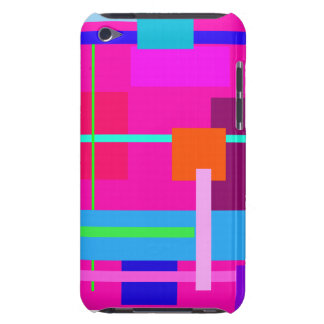 Pink Squares Barely There iPod Cover