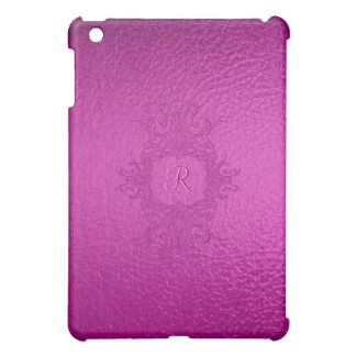 Pink Stained Class Look-Monogram iPad Mini Case
