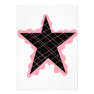 Pink Star Flame Custom Announcement