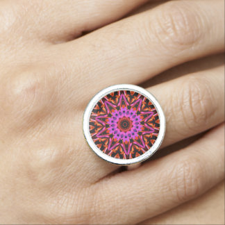 Pink Star Flower Ring