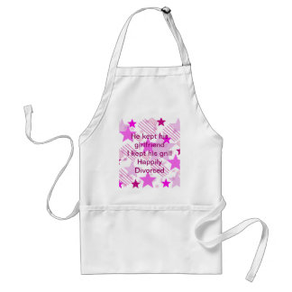 Pink Stars and Stripes Happily Divorced Standard Apron